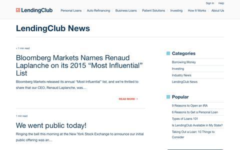 Screenshot of Press Page lendingclub.com - LendingClub News Archives - Page 3 of 4 - LendingClub Blog - captured June 27, 2018