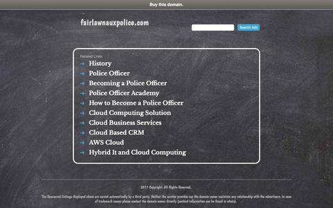 Screenshot of fairlawnauxpolice.com - fairlawnauxpolice.com - captured Oct. 13, 2017