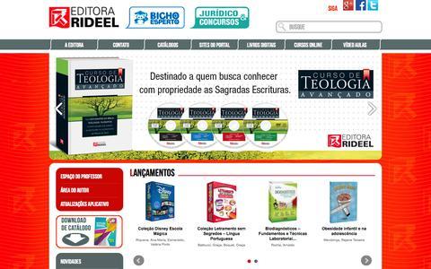 Screenshot of Home Page editorarideel.com.br - Rideel - captured Sept. 30, 2014