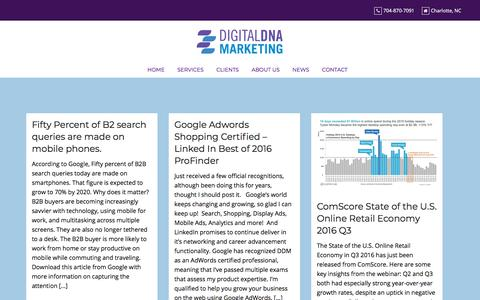 Screenshot of Press Page digitaldnamarketing.com - Omnichannel Digital Marketing Strategy Thought Leadership - captured July 12, 2019