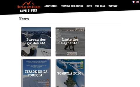Screenshot of Press Page guidesalpedhuez.com - News - captured Nov. 8, 2016