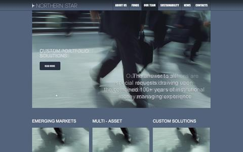 Screenshot of Home Page Team Page northern.fi - Northern Star  | Emerging Markets Asset Management - captured Oct. 6, 2014