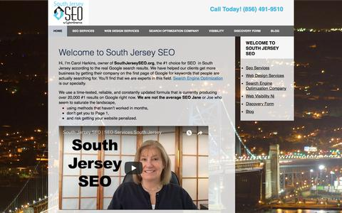 Screenshot of Home Page southjerseyseo.org - South Jersey Search Optimization Experts | NJ SEO Company - captured July 7, 2018