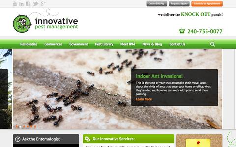 Screenshot of Home Page ipm4u.com - Welcome To Innovative Pest Management - Innovative Pest Management - captured Oct. 6, 2014