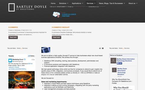 Screenshot of Services Page bartleydoyle.com - Services - captured Oct. 5, 2014