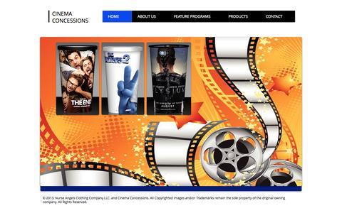 Screenshot of Home Page cinemaconcessions.com - Cinema Concessions - captured Sept. 29, 2014