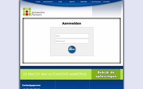 Screenshot of Login Page automotive-partners.nl - Partners - captured Oct. 4, 2014