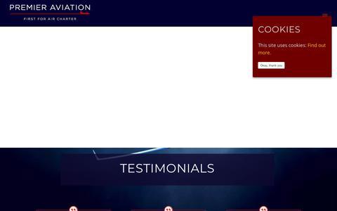 Screenshot of Testimonials Page premieraviation.com - Testimonials ⋆ Premier Aviation - captured Nov. 11, 2018