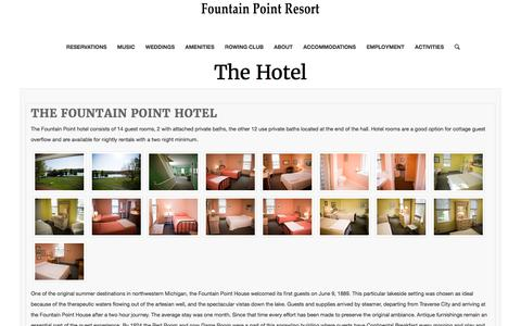The Hotel – Fountain Point Resort
