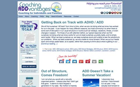 Screenshot of Blog coachingaddvantages.com - Blog - captured Sept. 30, 2014
