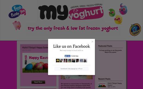 Screenshot of Blog my-yoghurt.com - MyYoghurt - Original Greek Frozen Yoghurt | Blog - captured Dec. 10, 2016