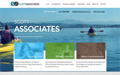 Screenshot of Home Page scottassociates.com.au - Scott Associates - captured Sept. 11, 2015