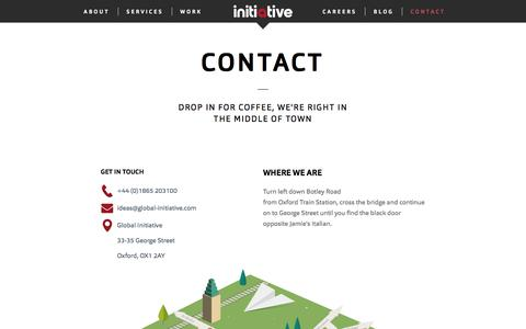 Screenshot of Contact Page global-initiative.com - Contact | Global Initiative | Global Initiative - captured Aug. 8, 2017