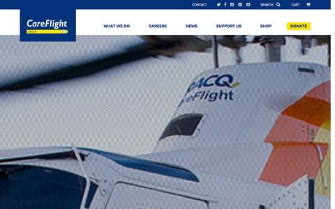 Screenshot of Home Page careflight.org.au - CareFlight Group Queensland - Australia's finest aeromedical care and helicopter rescue training - captured Oct. 8, 2014