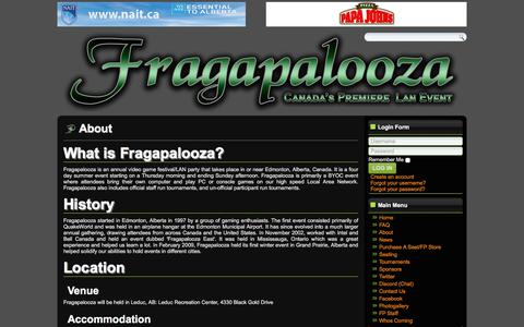 Screenshot of About Page fragapalooza.com - Fragapalooza - About - captured Jan. 11, 2018