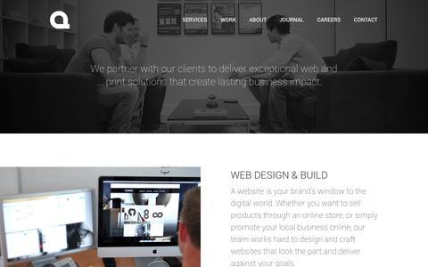 Screenshot of Services Page artlines.co.uk - Artlines Media - Our Design Services - captured Oct. 4, 2014