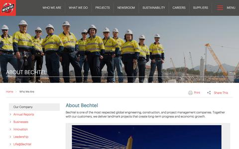 Learn About Us, Who We Are & What We Value - Bechtel