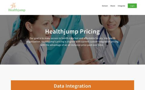 Screenshot of Pricing Page healthjump.com - Pricing | Healthjump - captured Sept. 10, 2018