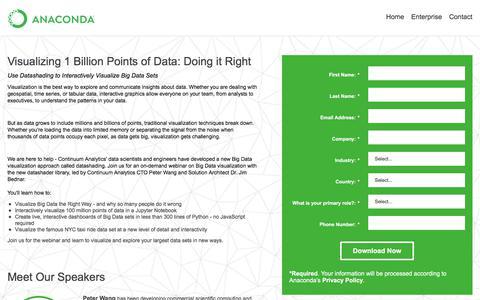 Screenshot of Landing Page anaconda.com - :: Anaconda - captured Sept. 22, 2018