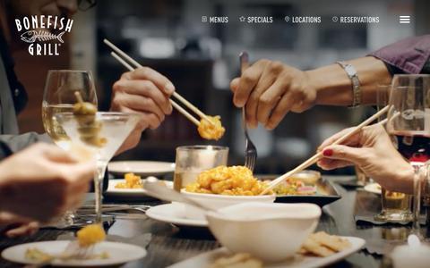 Screenshot of Home Page bonefishgrill.com - Bonefish Grill - captured Jan. 21, 2015