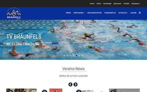 Screenshot of Home Page tv-braunfels.de - Home - TV Braunfels - captured June 9, 2016
