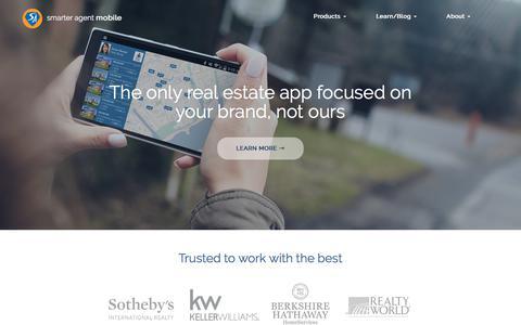 Screenshot of Home Page smarteragent.com - Smarter Agent - Focused on the use of mobile in real estate since 2000 - captured Sept. 23, 2018