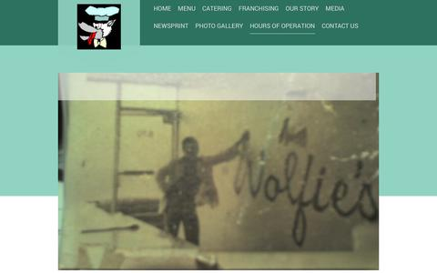 Screenshot of Hours Page mywolfies.com - mywolfies - HOURS OF OPERATION - captured Oct. 24, 2018