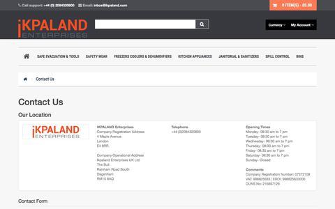 Screenshot of Contact Page ikpaland.com - Contact Us - captured Sept. 23, 2018