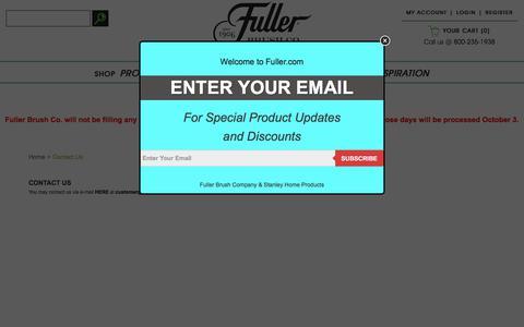 Screenshot of Contact Page fuller.com - Contact Us - captured Sept. 24, 2018