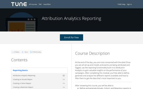 Attribution Analytics Reporting