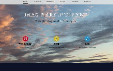 Screenshot of Home Page About Page imaginaryinternet.com - Web Development - Web Design - SEO - Internet Marketing - E-Commerce - Los Angeles | Imaginary Internet Web Development & Strategies - captured Oct. 3, 2014