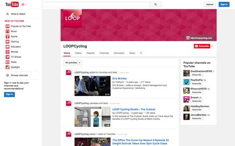 Screenshot of YouTube Page youtube.com - LOOPCycling  - YouTube - captured Oct. 23, 2014