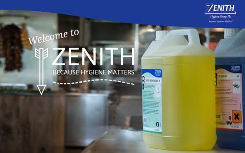 Screenshot of Home Page zhgplc.com - Zenith Hygiene   Because Hygiene Matters - captured Oct. 7, 2014