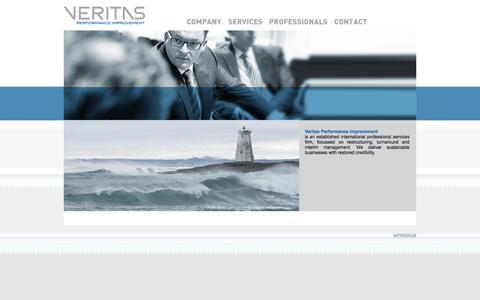 Screenshot of Home Page veritas-pi.com - VERITAS Performance Improvement - captured Feb. 24, 2016