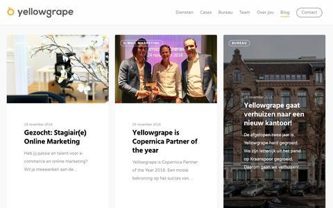 Screenshot of Blog yellowgrape.nl - E-commerce blog - Yellowgrape - captured Dec. 10, 2016