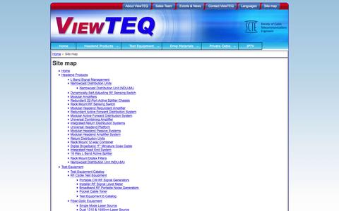 Screenshot of Site Map Page viewteq.com - Site map - captured Jan. 10, 2016