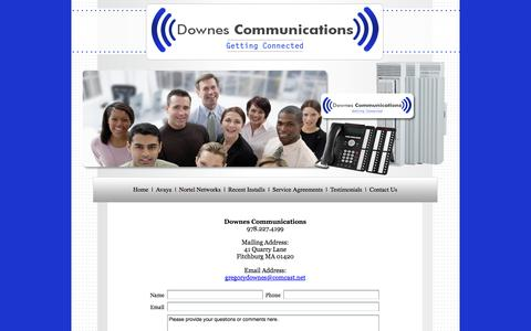 Screenshot of Contact Page telephoneguy.net - Contact Information | Phone Systems |  Massachusetts - captured Oct. 5, 2014