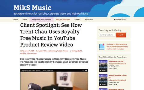 Screenshot of Blog miksmusic.com - MikS Music Blog - Music Licensing, Video Marketing, E-Commerce - captured Nov. 5, 2014