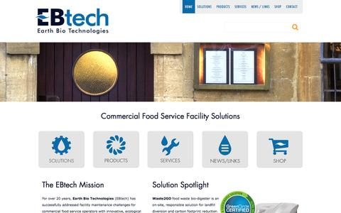 Screenshot of Home Page ebtech.pro - Homepage | EBtech - captured July 9, 2016