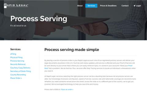 We Provide Nationwide Service of Process. Easy Process Serving.