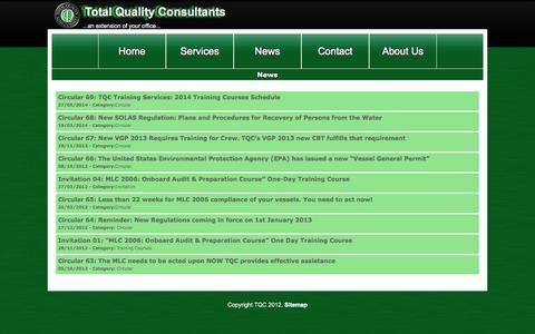 Screenshot of Press Page tqc.gr - TQC - captured Oct. 7, 2014