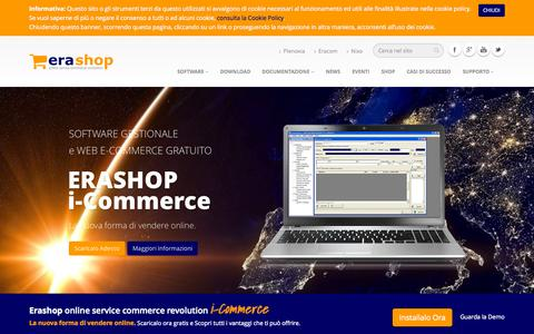 Screenshot of Home Page erashop.it - Home - Erashop i-Commerce - captured Sept. 18, 2015