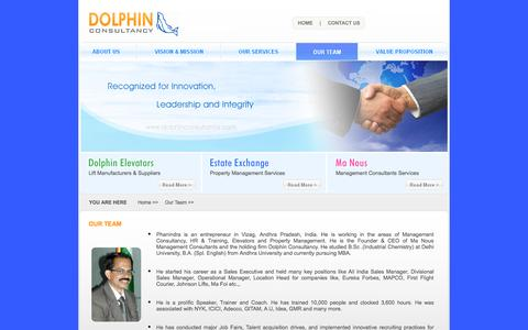 Screenshot of Team Page dolphinconsultancy.com - Dolphin Consultancy - Dolphin Elevators, Estate Exchage, Manous Management Consultants - captured Sept. 30, 2014