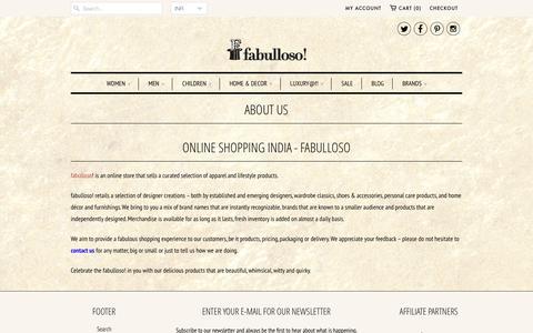 Screenshot of About Page fabulloso.com - Fabulloso: About Us | fabulloso.com - captured Jan. 8, 2016