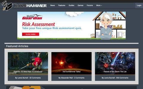 Screenshot of Press Page tentonhammer.com - News | Ten Ton Hammer - captured Dec. 5, 2015