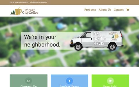 Screenshot of Home Page forestcitycoffee.com - Coffee roaster and office coffee sales in Cleveland and surrounding areas - Forest City Coffee - captured Jan. 8, 2016