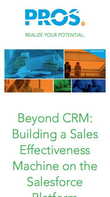 Beyond CRM | PROS Webinars | PROS