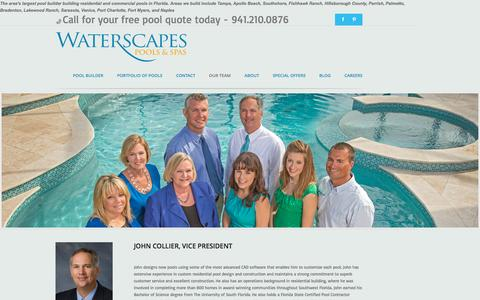 Screenshot of Team Page waterscapespools.com - Waterscapes Pool Building Team - captured Feb. 13, 2016