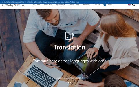 Translation - Solutions - thebigword