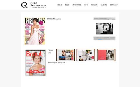 Screenshot of Press Page rostovtsev.de - Publications - Interview - Wedding magazines - captured Oct. 18, 2018